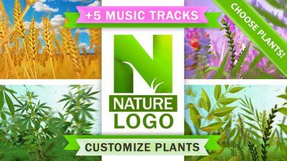 پروژه افترافکت نمایش لوگو با گیاهان طبیعت Nature Eco Plants Logo
