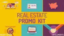 پروژه افترافکت تیزر تبلیغاتی مشاور املاک Real Estate Kit