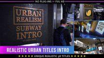 پروژه افترافکت نمایش عناوین در اماکن شهری Realistic Urban 3D Titles