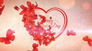 پروژه افترافکت نمایش لوگو عاشقانه Romantic Heart Opener
