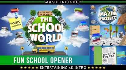 پروژه افترافکت افتتاحیه آموزش در مدرسه School Education Opener