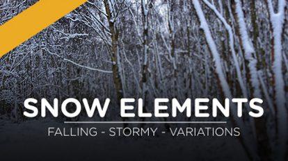 مجموعه فوتیج ویدیویی برف Snow Elements