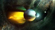 مجموعه فوتیج ویدیویی اجرام فضایی و زمینه ستاره ای Space Kit