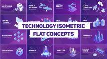 پروژه افترافکت پرزنتیشن تکنولوژی Technology Isometric Concepts
