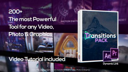 پروژه افترافکت مجموعه ترانزیشن ویدیویی Transitions Pack