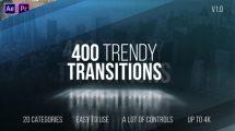 پروژه افترافکت مجموعه ترانزیشن ویدیویی Trendy Transitions
