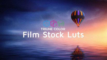 مجموعه پریست رنگ فیلم Triune Digital Film Stock LUTs