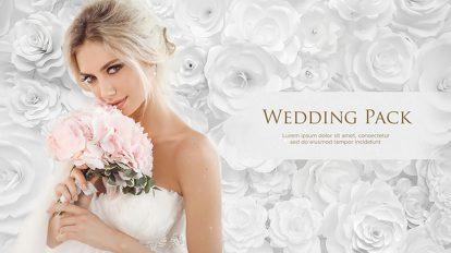 پروژه افترافکت ویدیوی عروسی با رز سفید Wedding Pack White Roses