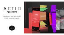 پروژه افترافکت تیزر تبلیغاتی اپلیکیشن Actio App Promo