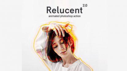 اکشن فتوشاپ انیمیشن درخشش نور Animated Relucent 2