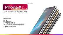 پروژه افترافکت تیزر تبلیغاتی اپلیکیشن با آیفون App Promo Phone XS