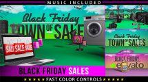پروژه افترافکت تیزر تبلیغاتی فروش ویژه Black Friday Shopping