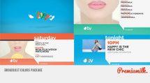 پروژه افترافکت اجزای برودکست رنگی Broadcast Colors Package