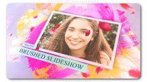 پروژه افترافکت اسلایدشو با گلبرگ و براش نقاشی Brushed Petals Slideshow