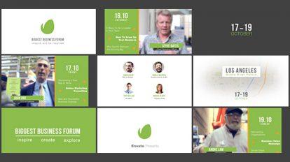 پروژه افترافکت تیزر تبلیغاتی مراسم انجمن Business Forum