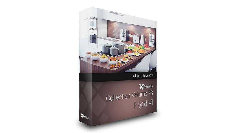 مجموعه مدل سه بعدی غذا CGAxis Models Volume 73 Food VI