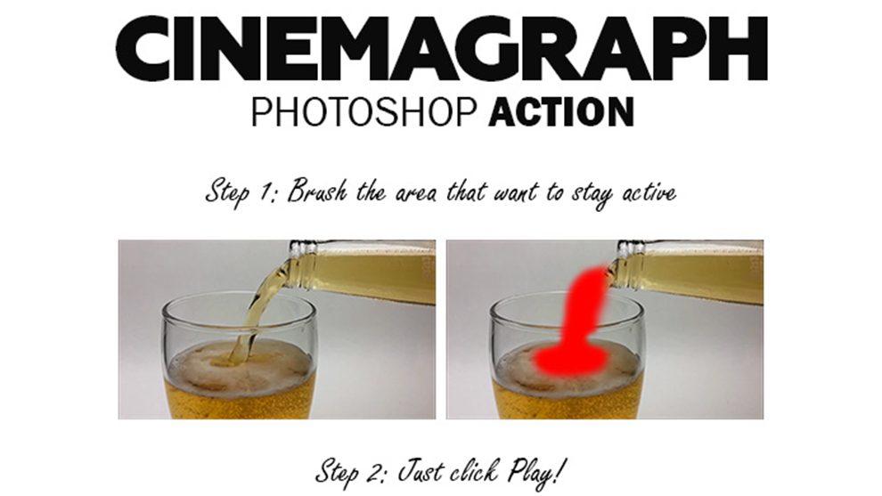 اکشن فتوشاپ ساخت سینماگراف Cinemagraph Photoshop Action
