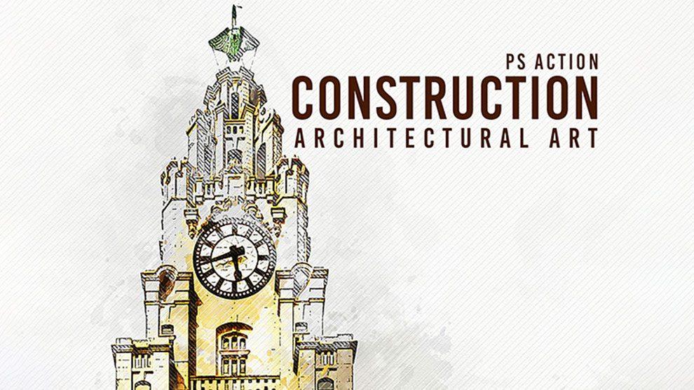 اکشن فتوشاپ هنر معماری ساختمان Construction Architectural Art