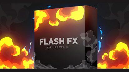 مجموعه ویدیوی موشن گرافیک افکت کارتونی Flash FX Elements