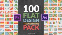 پروژه پریمیر ترانزیشن فلت Flat Design Transitions Pack