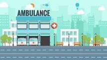 پروژه افترافکت زمینه پزشکی فلت Flat Medical Background