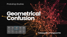 مجموعه براش فتوشاپ درهم هندسی Geometrical Confusion Brushes