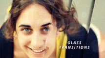 پروژه افترافکت مجموعه ترانزیشن شیشه ای Glass Transitions