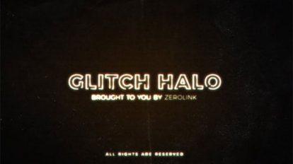 پروژه افترافکت نمایش لوگو با افکت گلیچ Glitch Halo