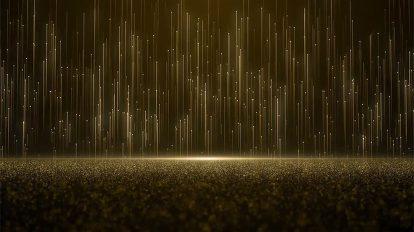 مجموعه موشن گرافیک زمینه پارتیکلی طلایی Gold Particles Background