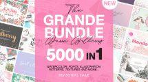 مجموعه 5000 المان و تصاویر گرافیکی Grande Bundle