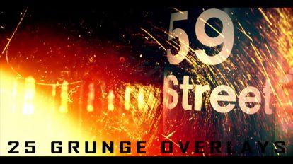 مجموعه ویدیوی موشن گرافیک 25 پوشش گرانج Grunge Ovelays