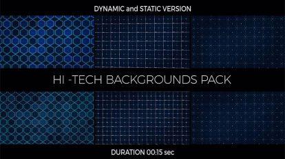 مجموعه ویدیوی موشن گرافیک زمینه هایتک Hi-Tech Backgrounds Pack