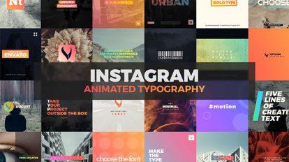 پروژه افترافکت پست اینستاگرام با تایپوگرافی Instagram Animated Typography