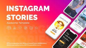 پروژه افترافکت استوری اینستاگرام Instagram Stories 3
