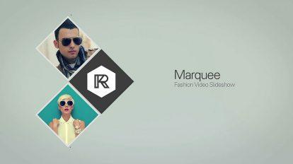 پروژه افترافکت اسلایدشو فشن Marquee Fashion Video Slideshow