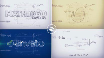 پروژه افترافکت نمایش لوگو با فرمول ریاضی Math Formulas Logo Reveal