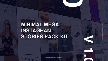 پروژه افترافکت استوری اینستاگرام مینیمال Minimal Mega Instagram Stories