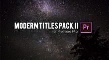 پروژه پریمیر نمایش عناوین مدرن Modern Titles Pack ii