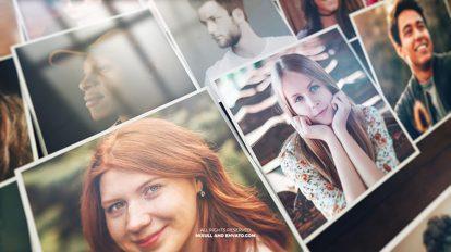 پروژه افترافکت نمایش موزاییکی تصاویر Mosaic Photo Reveal