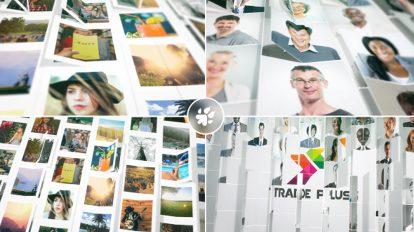 پروژه افترافکت نمایش لوگو با تصاویر Multi Images Fold Reveal