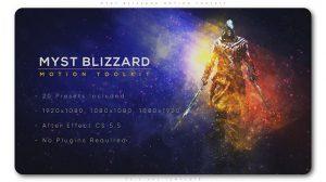مجموعه پریست افترافکت موشن نور رمزآلود Myst Blizzard Motion Toolkit