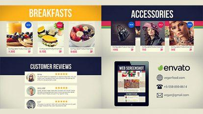 پروژه افترافکت فروشگاه آنلاین Online Store Promo