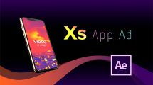 پروژه افترافکت تیزر تبلیغاتی اپلیکیشن Phone XS App Ad