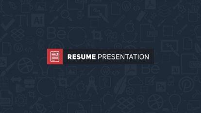پروژه افترافکت پرزنتیشن رزومه Resume Presentation