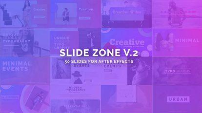 پروژه افترافکت نمایش اسلاید تایپوگرافی مدرن Slide Zone