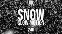 مجموعه ویدیوی موشن گرافیک اسلوموشن بارش برف