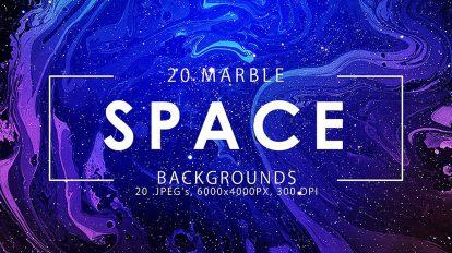 مجموعه تصاویر زمینه فضایی با استایل مرمر Space Marble Backgrounds