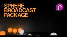 پروژه افترافکت برودکست گوی های رنگی Sphere Broadcast Package