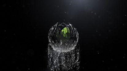 پروژه افترافکت نمایش لوگو سیال کروی Spherical Liquid Logo Reveal