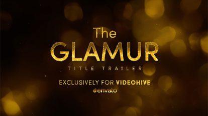 پروژه افترافکت تریلر با عناوین براق The Glamur Title Trailer